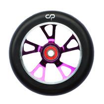 Crisp 125mm Drilled Alloy Core Wheel Purple / Black PU