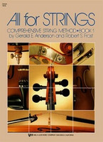 All For Strings Book 1 Violin, by  Gerald Anderson Robert Frost for Violin, Publisher  Neil A. Kjos Music Company