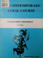 The Contemporary Aural Course Set Three by Margaret S. Brandman 70% off