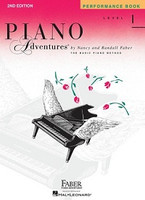 Piano Adventures Level 1 - Performance Book, by Nancy Faber Randall Faber for Piano, Publisher  Faber Piano Adventures