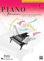 Piano Adventures Level 1 - Popular Repertoire Book, by Nancy Faber Randall Faber for Piano, Publisher  Faber Piano Adventures