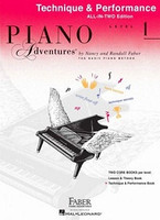 Piano Adventures All-In-Two Level 1 Technique & Performance Book, by Nancy Faber Randall Faber for Piano, Publisher  Faber Piano Adventures