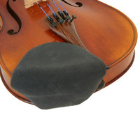 Strad Pad Violin & Viola Chinrest Cover -  Large Size (Black)
