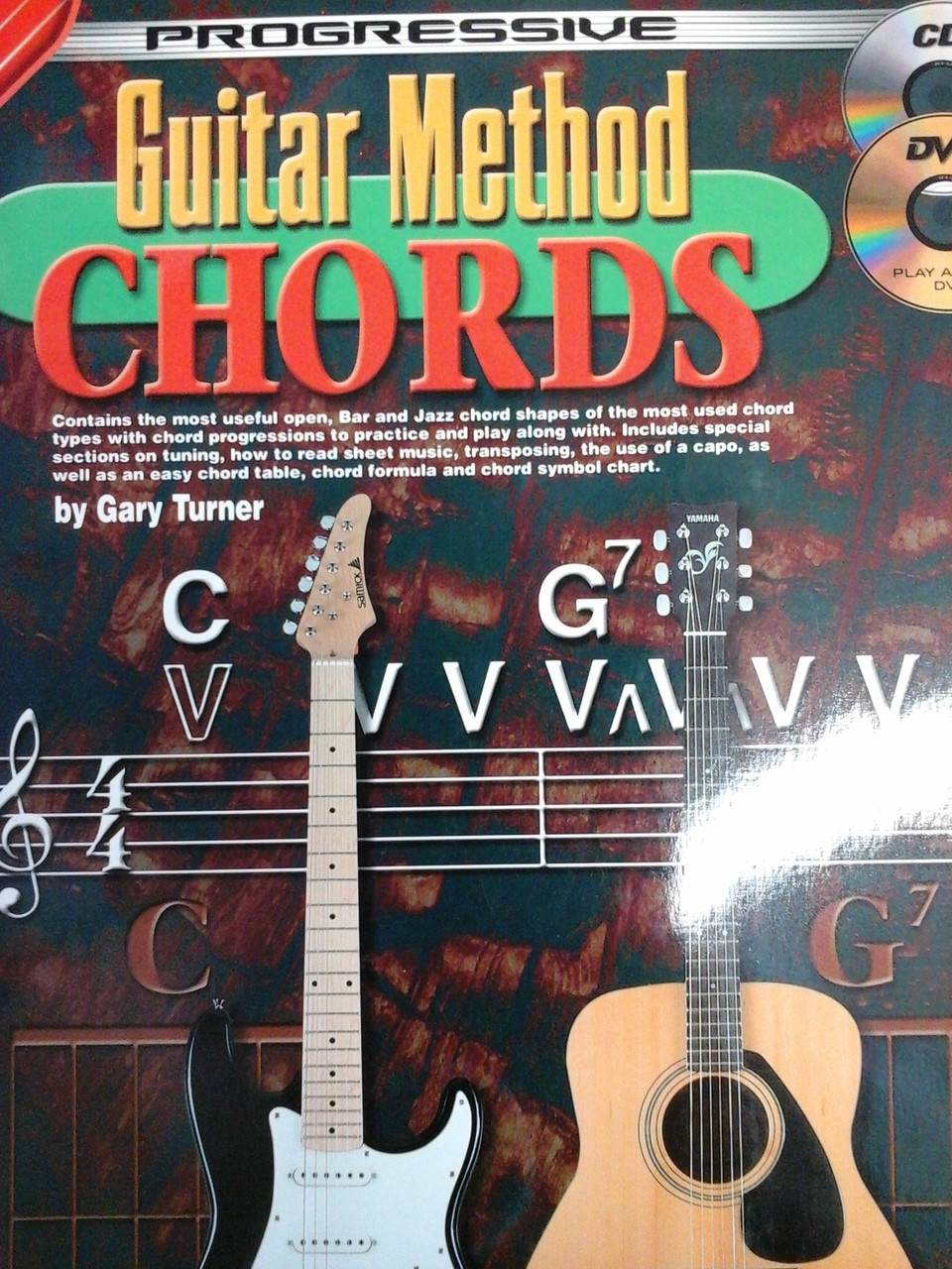 Progressive Guitar Method Chords With Cd Dvd By Gary Turner30 Off String How To Read Basic Chord Diagram Image 1