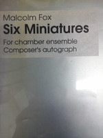Six Miniatures for chamber ensemble by Malcolm Fox,70% off