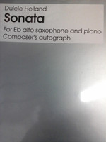 Sonata for E flat alto saxophone&piano by Dulcie Holland,70% off