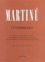 Intermezzo by Bohuslav Martinu for Violin&Piano, Publisher Barenreiter