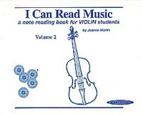 I Can Read Music, Volume 2 by Joanne Martin for Violin, Publisher Summy Birchard