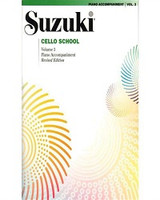 Suzuki Cello School Piano Acc., Volume 3 (Revised) for Cello and Piano, Series of Suzuki Cello School, Publisher Summy Birchard