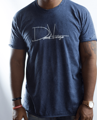 Hand Distressed 'Gym Shirt' - Heather Navy