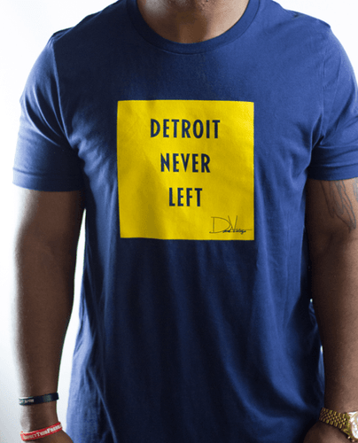 Detroit Never left™ Tee - Maize & Blue