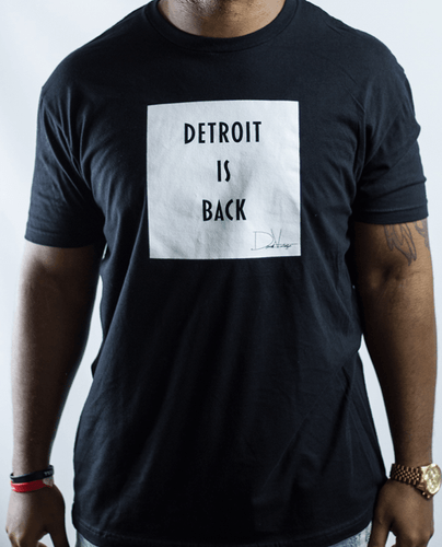Detroit Is Back™ Tee – Black/White