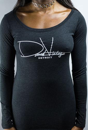 Signature Long Sleeve Scoop Neck - Vintage Black