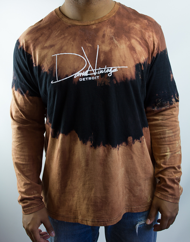 Hand Stained Signature Long Sleeve - Black