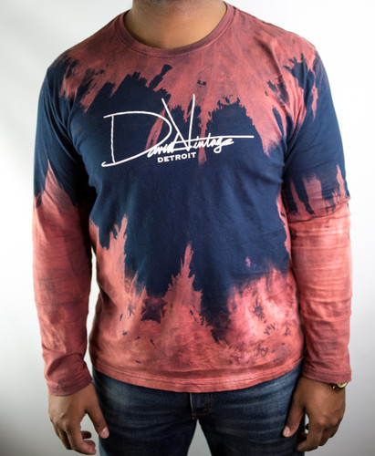 HAND STAINED SIGNATURE LONG SLEEVE - NAVY