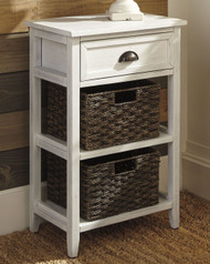 Oslember White Accent Table