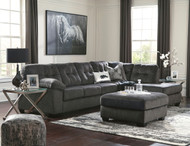 Accrington Granite Left Arm Facing Sofa, Right Arm Facing Corner Chaise Sectional, Accent Ottoman & 2 Coylin End Tables