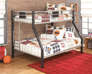 Dinsmore Black/Gray Twin/Full Bunk Bed