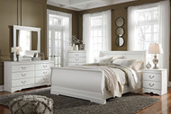 Anarasia White 6 Pc. Dresser, Mirror, Queen Sleigh Bed & Nightstand
