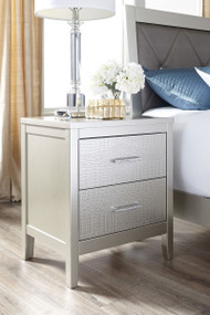 Olivet Silver Two Drawer Night Stand