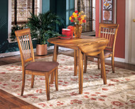 Berringer 3 Pc. Round Drop Leaf Table & 2 Upholstered Side Chairs