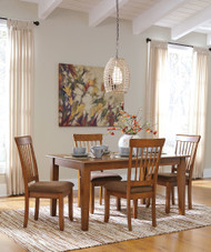Berringer 5 Pc. Rectangular Dining Room Table & 4 Upholstered Side Chairs