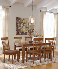 Berringer 7 Pc. Rectangular Dining Room Table & 6 Side Upholstered Chairs