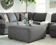 Jayceon Steel Oversized Accent Ottoman