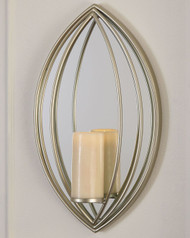 Donnica Silver Finish Wall Sconce