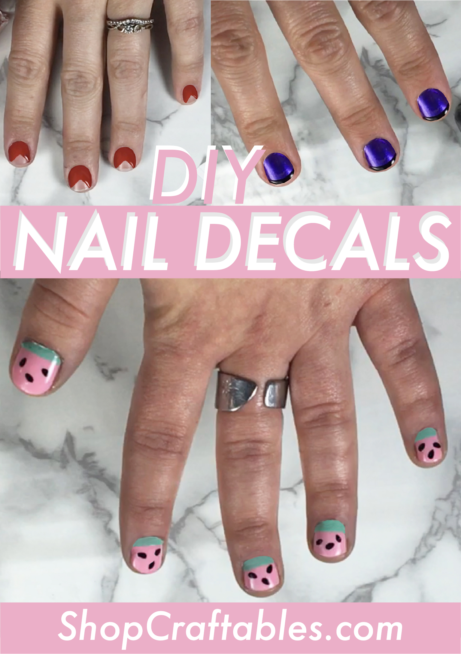 Make your own Nail Decals | Craftables Blog