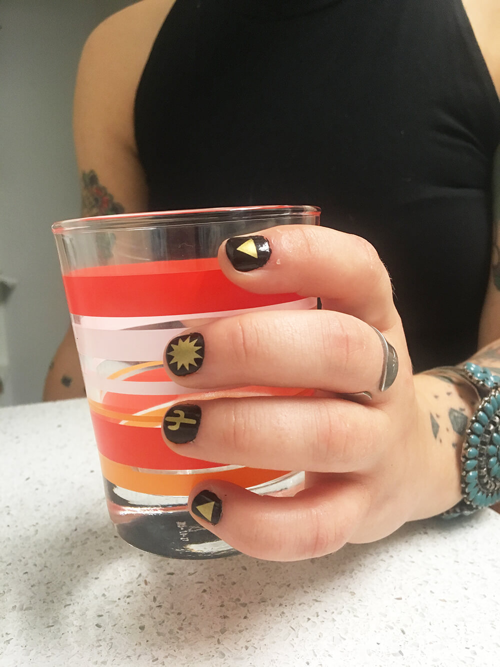 How to create vinyl nail decals craftables blog for Long manicure table