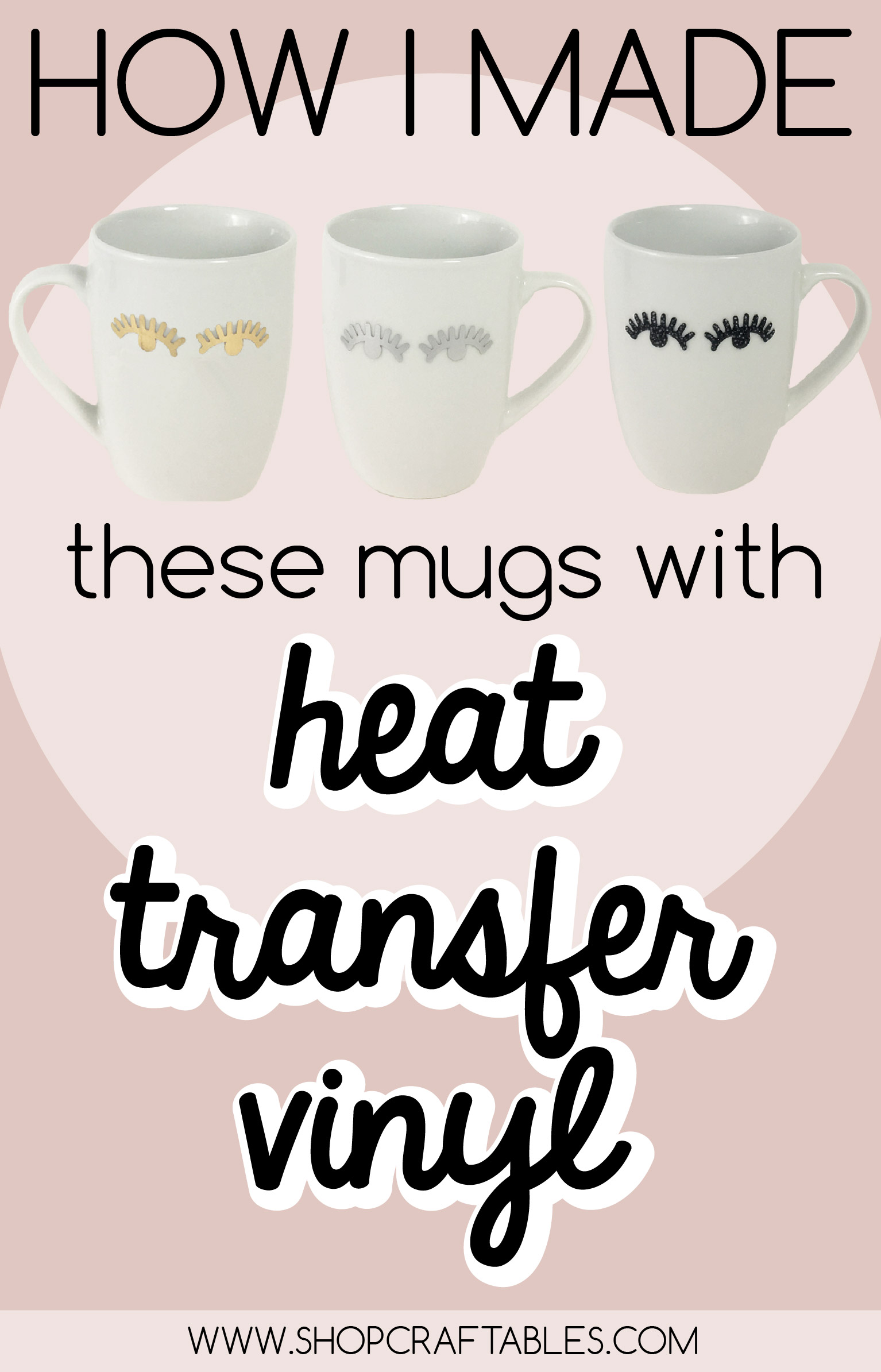 how to apply htv to mug with a heat gun