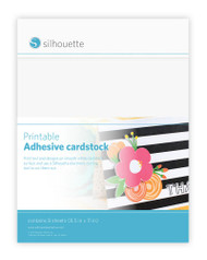 Silhouette Printable White Adhesive-Backed Cardstock