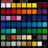 Oracal 6531 sheets by color swatch sheets