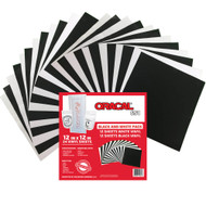 Oracal 651 Black And White Vinyl Pack