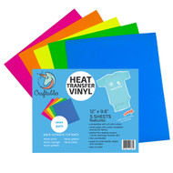 Craftables Heat Transfer Vinyl Neon Pack Sheets