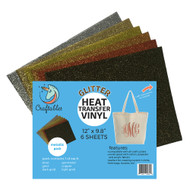 Craftables Glitter Heat Transfer Vinyl Metallic Pack