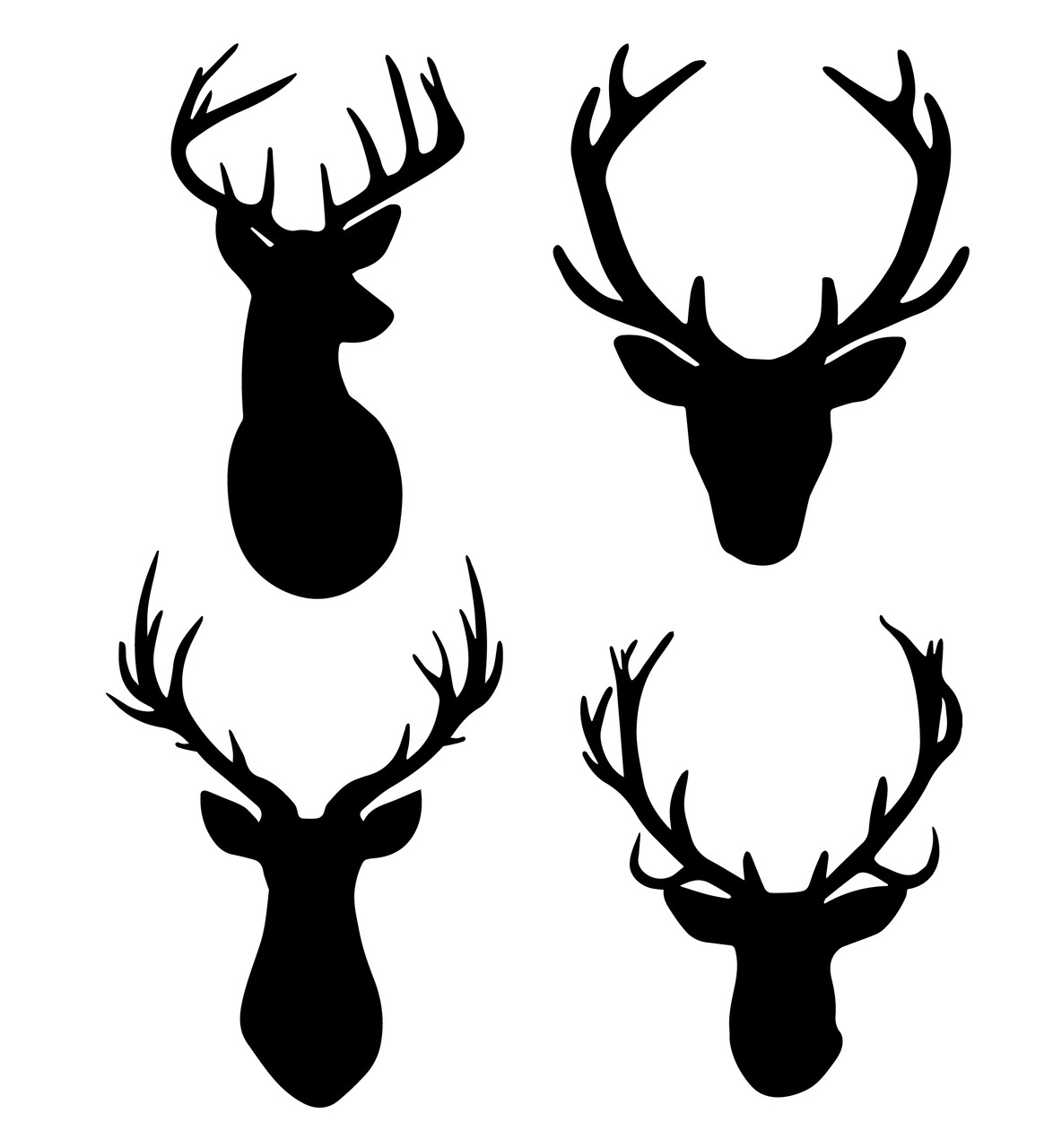 Free Deer With Antlers Svg Cut Files Craftables