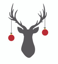 Free deer with ornaments SVG Cut File