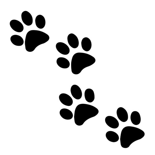 free paw print svg cut file craftables snow leopard paw print clip art Kitty Paw Prints Clip Art