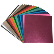 Craftables Ultra Glitter Adhesive Vinyl Sheets By Color - 1, 5, 10, 25, or 50 Packs