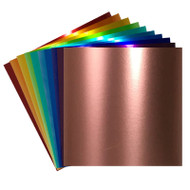 Craftables Metallic Adhesive Vinyl Sheets By Color - 1, 5, 10, 25, or 50 Packs