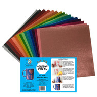 Craftables Glitter Adhesive Vinyl Complete Starter Pack - (16) 12in x 12in sheets