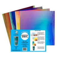 "Craftables Iridescent Vinyl Starter Pack - (4) 12"" x 12"" Sheets"