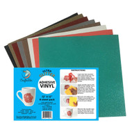 "Craftables Ultra Glitter Adhesive Vinyl Popular Pack - (8) 12"" x 12"" Sheets"