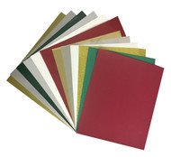 -3 sheets of Craftables Permanent Adhesive Vinyl -3 sheets of Craftables Glitter Adhesive Vinyl -2 sheets of Glitter Heat Transfer Vinyl -2 sheets of Flock Heat Transfer Vinyl -2 sheets of Foil Heat Transfer Vinyl