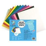Craftables Popular 12 Heat Transfer Vinyl Sheet Pack