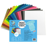 Craftables Popular 20 Heat Transfer Vinyl Pack