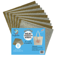 Craftables Gold and Silver Pack Glitter Heat Transfer Vinyl