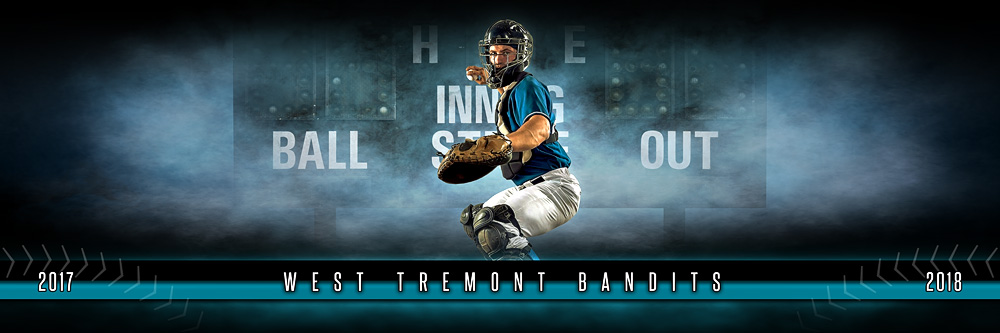 Panoramic Sports Team Banner Photo Template Fantasy Baseball - Sports banner templates